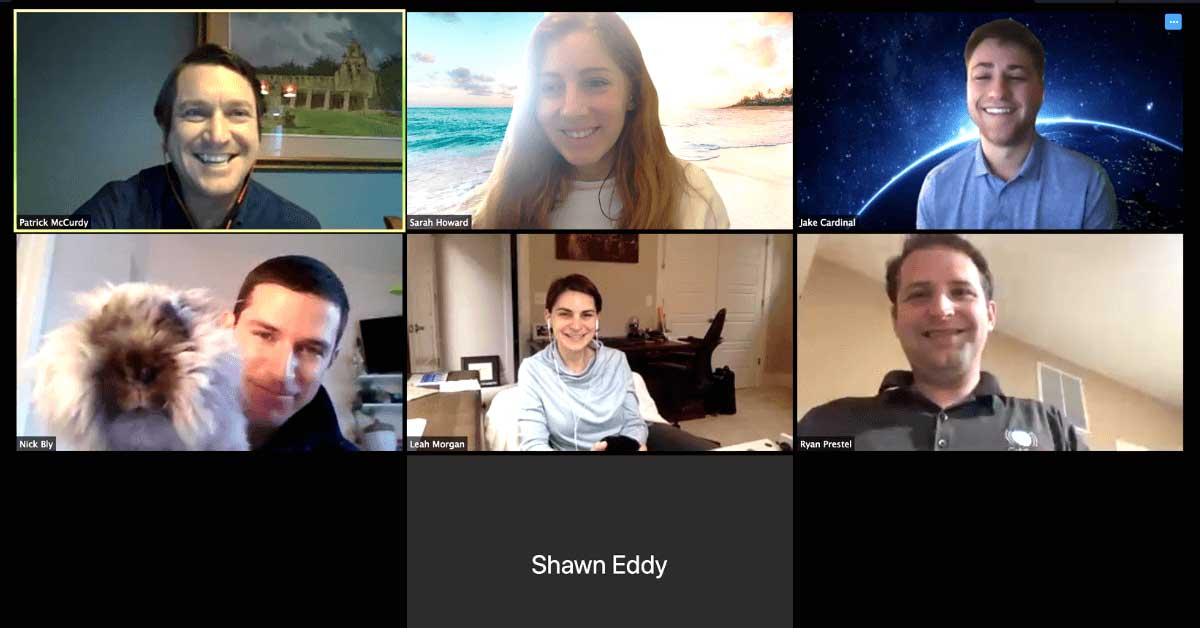 Remote work meeting during COVID-19