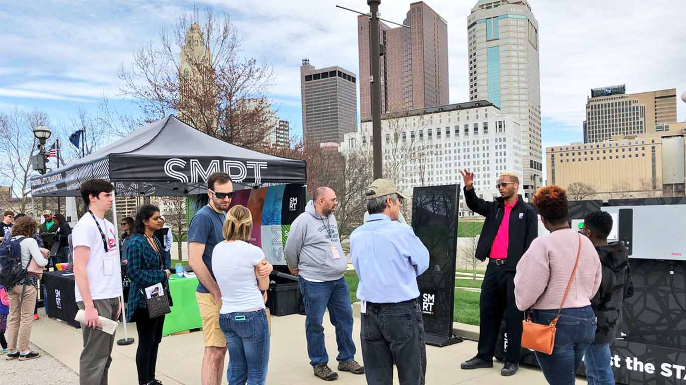 Smart Columbus at downtown Columbus Earth Day event