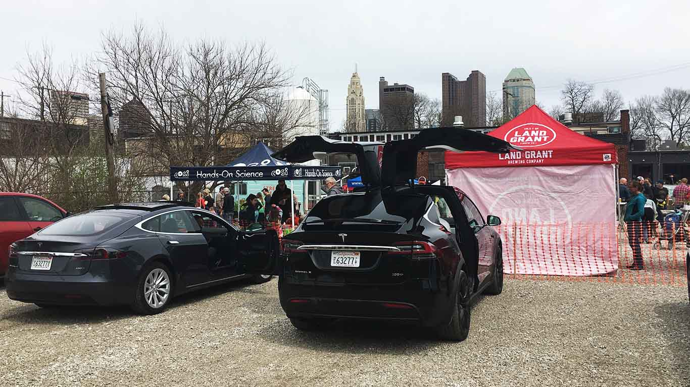 Tesla Model X for Smart Columbus electric vehicle test drive